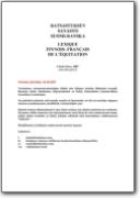 Lexique de l'�quitation finlandais>fran�ais (FI>FR)