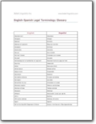 English>Spanish Legal Terminology Glossary (EN>ES)