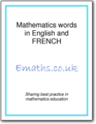 Mathematics words in English and French (EN>FR)