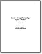 Glossary of Legal Terminology English � German (EN>DE)