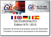 DIC'EUROPAUTO: Translation of usual terms and products of the Automotive - 2012 (DE-EN-ES-FR-IT)