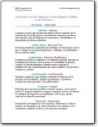 English Glossary of Psychology and Therapy Terms & Definitions (ES>EN)