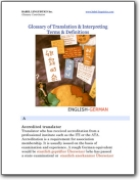 English>German Glossary of Translation & Interpreting Terms & Definitions (EN>DE)
