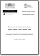 Glossary of Terms for the Turbomachinery Domain (DE>EN, FR, SV, IT)