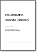 The Alternative Icelandic Dictionary (IS>EN)