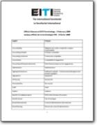 Glossario inglese>francese dell'iniziativa per la trasparenza delle industrie estrattive (EITI) (EN>FR)