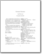 German>English Mathematical Glossary - 2007(DE>EN)