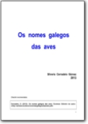 Bird names in Galician - 2013 (GL>LA)