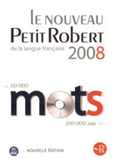 Le Petit Robert 2008 (French monolingual dictionary) on CD-ROM