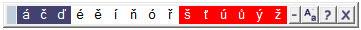 Checo teclado caracteres especiales