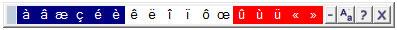 Francés teclado caracteres especiales