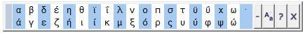 Griego teclado caracteres especiales