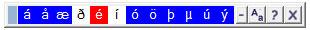 Islandese tastiera caratteri speciali